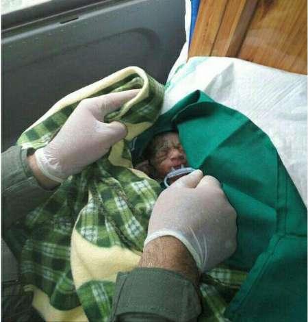 تصویر/تولد نوزاد عجول در بالگرد