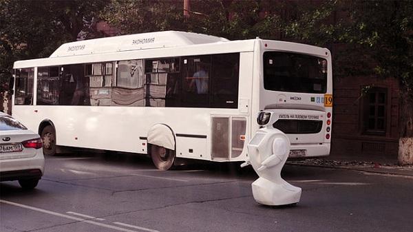 ربات فراری در شهر/تصاویر
