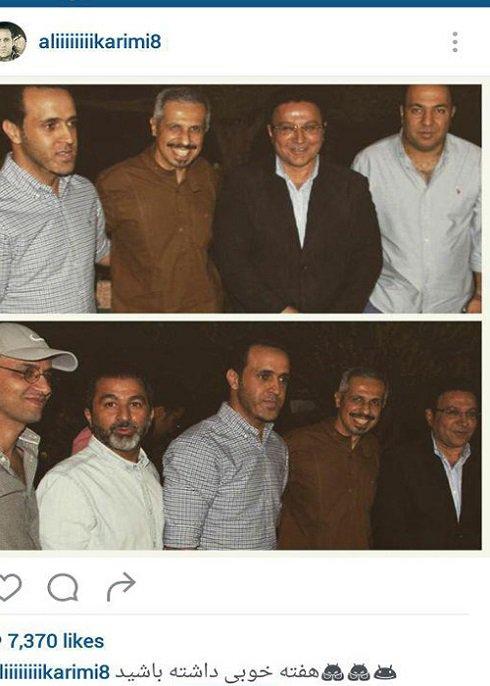 عکس/علی کریمی در کنار جواد رضویان