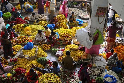 عکس/ بازار گل در بنگلور هند