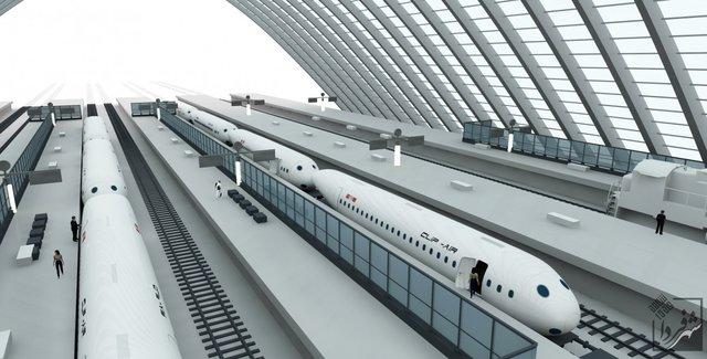 هواپیمایی که قطار میشود/ عکس