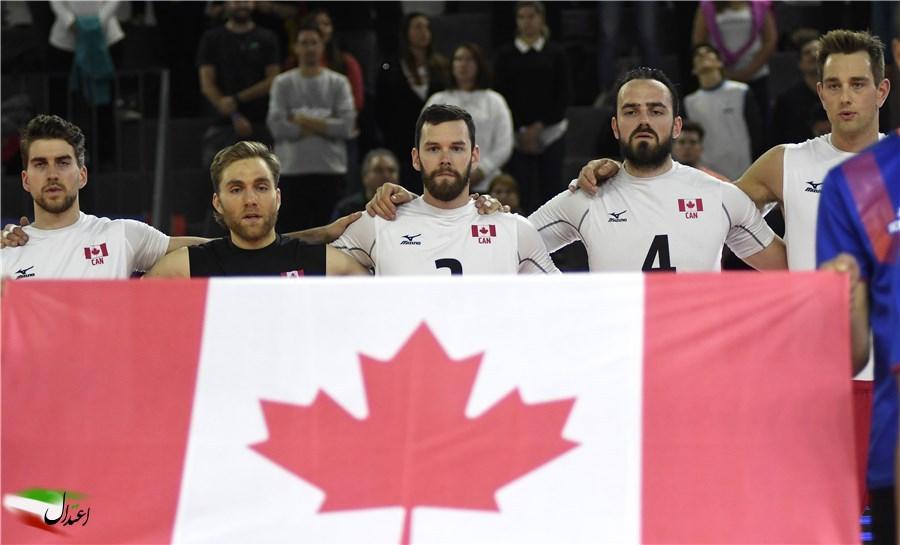 والیبال ایران و کانادا