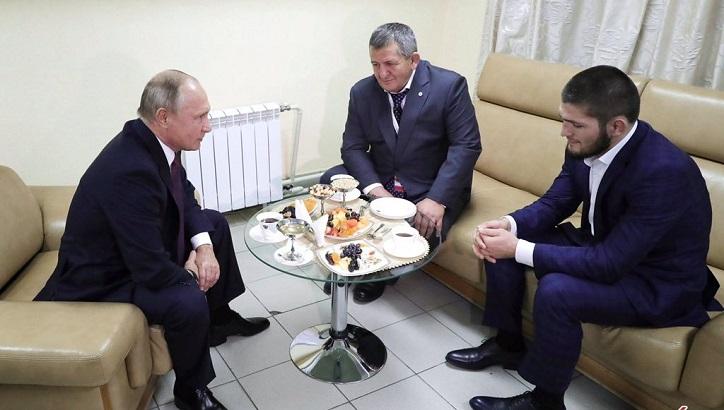 عکس/ دیدار پوتین با حبیب نورماگومدوف